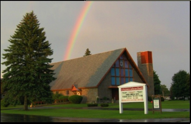 End of the Rainbow at St. John's Lutheran Church